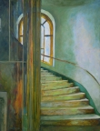 Stockholm Stairway & Elevator by Mary Jo Kennard